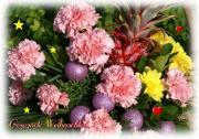 Grusskarte Weihnachts-Blumen