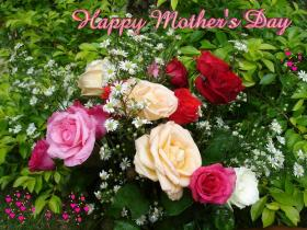 Tropical orchids and rose-bouquets Mother's Day eCards