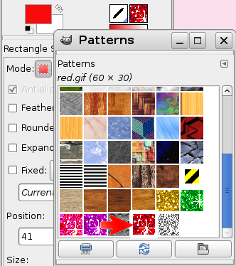 PaintBucket Fill and Grant tutorial in the GIMP